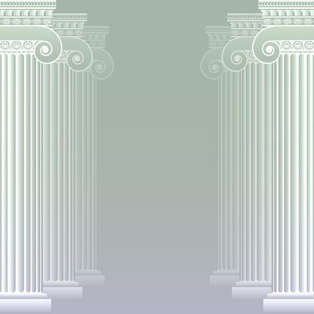 doric: Classical greek or roman columns