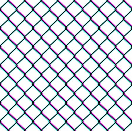 chain fence: Chain-link fence seamless pattern Illustration