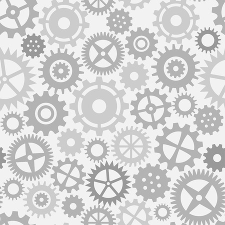 toothed: Gear wheels seamless pattern Illustration