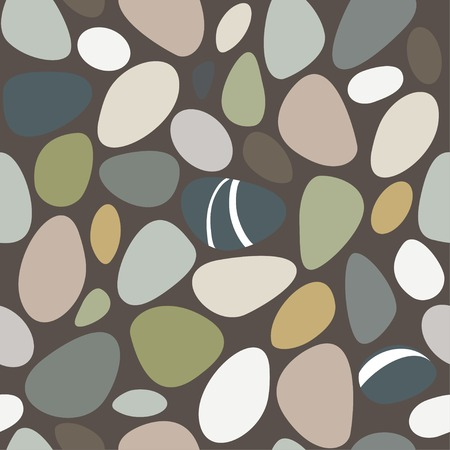 Sea stones seamless pattern