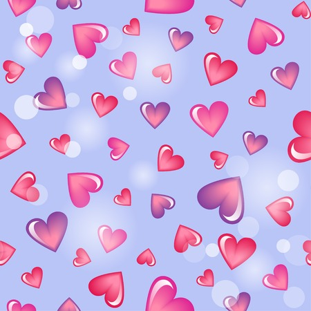 fleck: Valentines day background with hearts Illustration