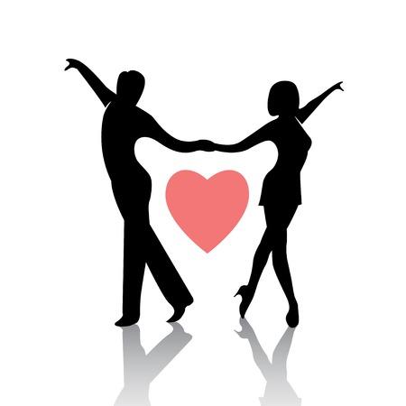 Dancing couple isolé sur un fond blanc Banque d'images - 37109518