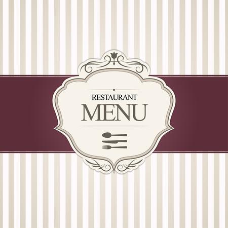 restaurant eating: Restaurant menu cover design