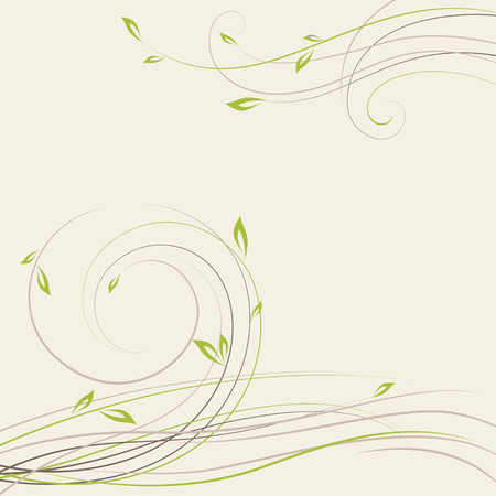 Abstract spring background with some plant swirls