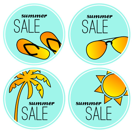 aviators: Summer sale stickers