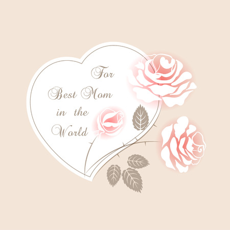 delicate: Delicate pink card with roses