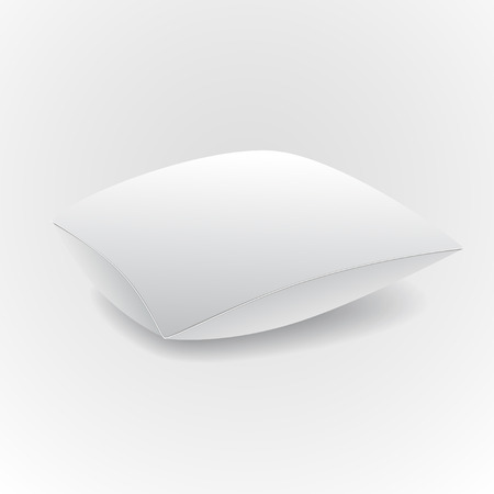 white pillow: White pillow isolated on grey background. Vector illustration