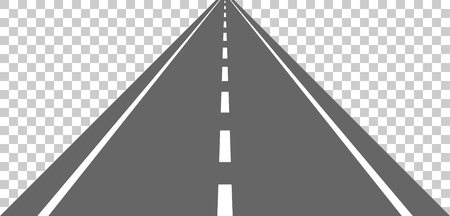 Straight road with white markings.