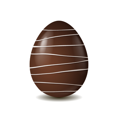 chocolate egg: Chocolate egg isolated on white background. Vector illustration
