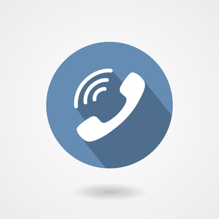 Ringing phone handset icon isolated on white background.  sign
