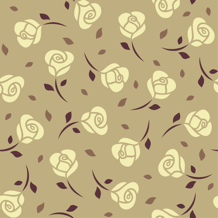 yellow roses: Yellow roses seamless pattern.