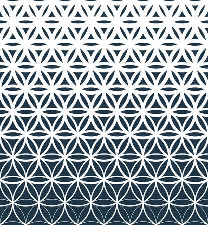 Gradient geometric seamless pattern.