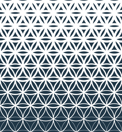 Gradient geometric seamless pattern.