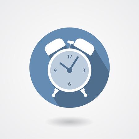 analog dial: Alarm clock icon isolated on white background. sign Illustration