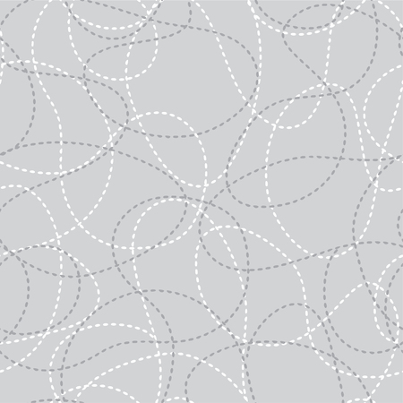 Stitched curves grey seamless pattern