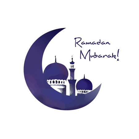 Mosque And Moon Ramadan Symbol Royalty Free Cliparts Vectors And
