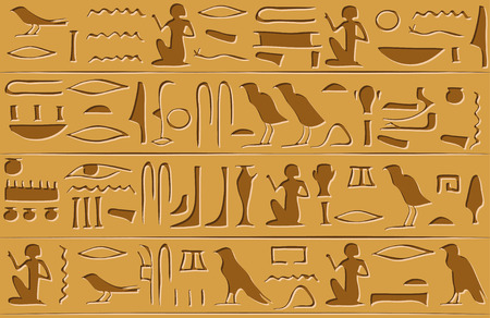 Egyptian hieroglyphs seamless pattern. Vector illustration EPS8 Иллюстрация