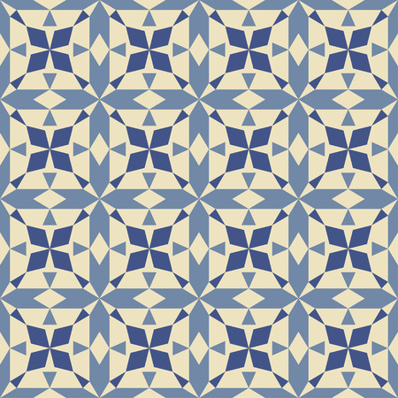 vintage colors: Abstract geometric seamless pattern in vintage colors. Vector illustration