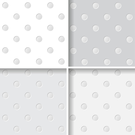 bedclothes: Cutout spots simple seamless pattern collection. Vector background