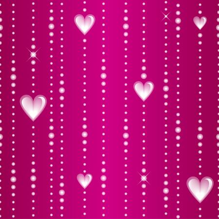 Glassy threads seamless pattern