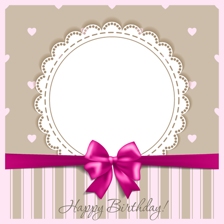 Happy birthday card with a bow
