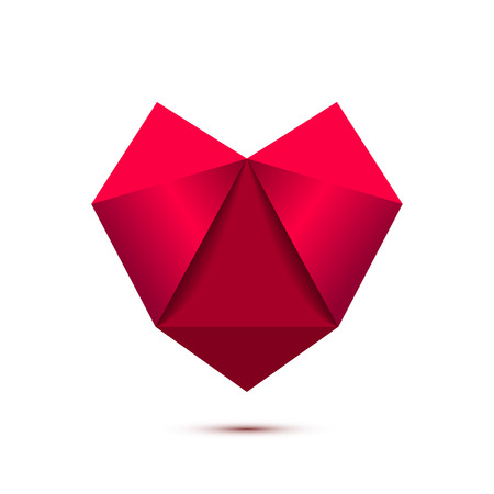 Heart shape symbol isolated on white background Banco de Imagens