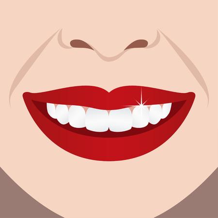 Smiling girl illustration Ilustração