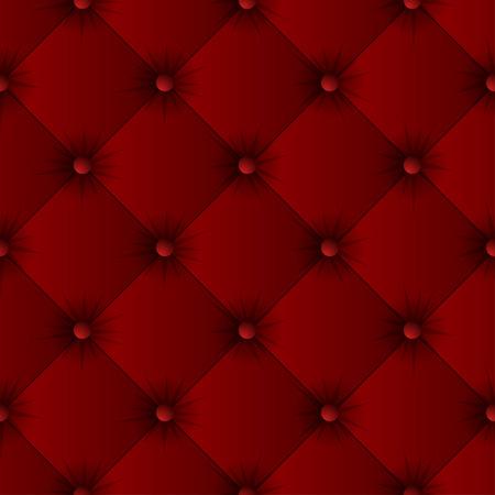 Red sofa texture seamless pattern. Easy editable background color. Vector illustration Ilustração