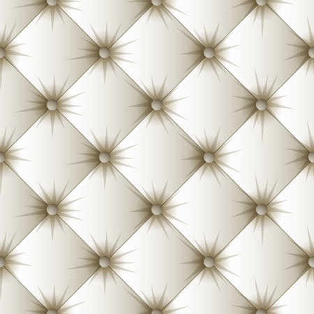 White upholstery seamless pattern. Easy editable background color. Vector illustration