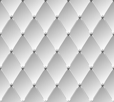 Abstract metallic rhombus seamless pattern. Vector background Ilustração