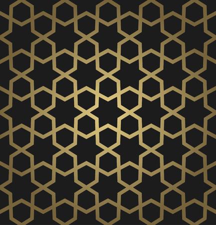 Oriental seamless pattern. Vector golden arabic background
