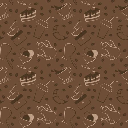 원활한 커피 패턴과 패턴