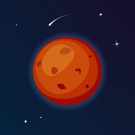 벡터 행성 화성 그림 일러스트