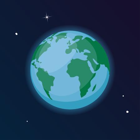Vector planet Earth illustration