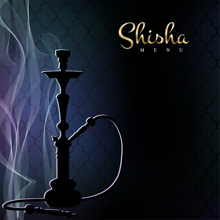 Shisha menu poster vector illustration.