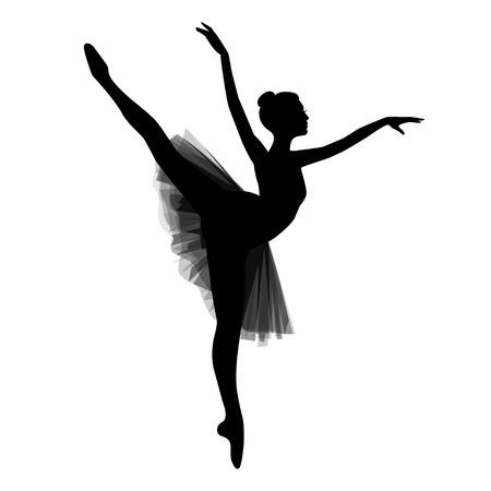 Ballerina concept vector illustration.