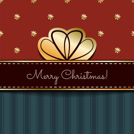 크리스마스 빈티지 카드 일러스트