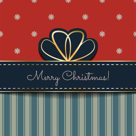 Christmas vintage card Ilustração