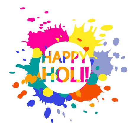 Happy Holi illustration