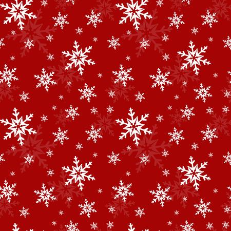 雪の結晶のお祝いシームレス パターン。ベクトルの図。  イラスト・ベクター素材