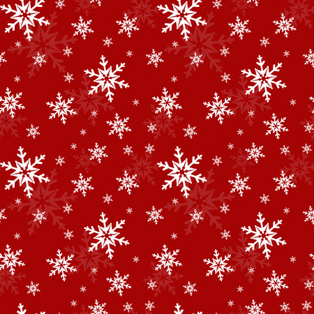 Festive seamless pattern with snowflakes. Vector illustration.