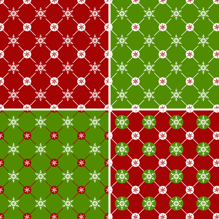 christmas seamless pattern: Set of christmas seamless pattern with snowflakes. Vector illustration. Illustration