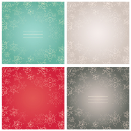 christams: Elegant winter backgrounds with snowflakes and space for text. Vector illustration.