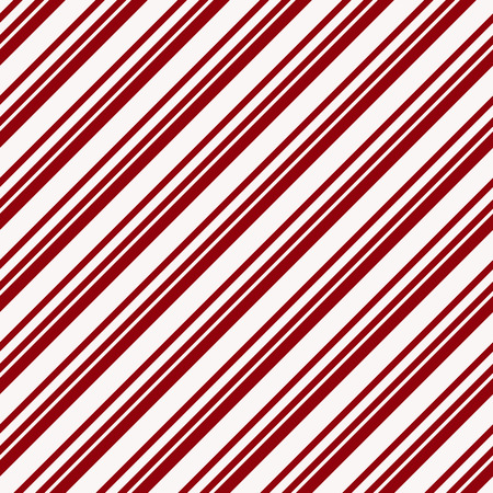 Seamless pattern with diagonal stripes. Vector background in red and white colors. Christmas paper. Ilustração