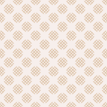 Seamless pattern with hatched circles. Abstract background in neutral beige tones.