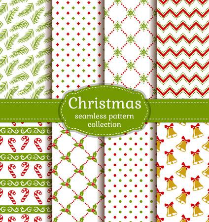メリー クリスマスと新年あけましておめでとうございます!伝統的な祝日のシンボルでかわいいのシームレスな背景のセット 写真素材 - 48430617