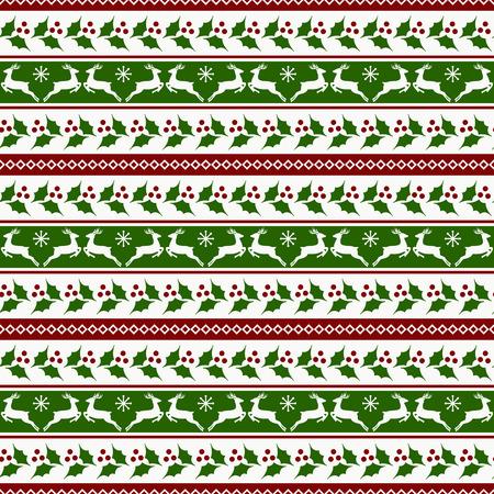motivos navideños: ¡Feliz Navidad! rayas de fondo con los renos y el acebo.