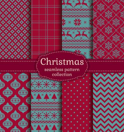 적합: 즐거운 성탄절 보내시고 새해 복 많이 받으세요! 크리스마스 트리, 트리 공, 사슴, 눈송이와 적절한 추상 패턴 전통적인 휴일 기호 겨울 원활한 배경 설