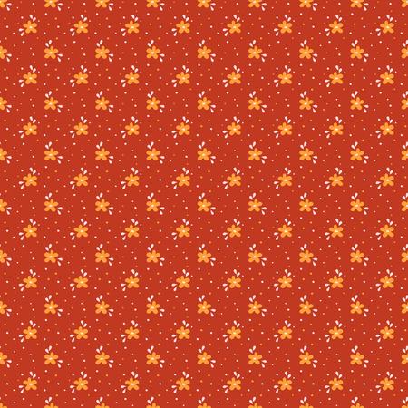 petites fleurs: motif floral dans des couleurs rouge, orange et blanc. Seamless background avec de petites fleurs dessinés à la main. Vector illustration. Illustration