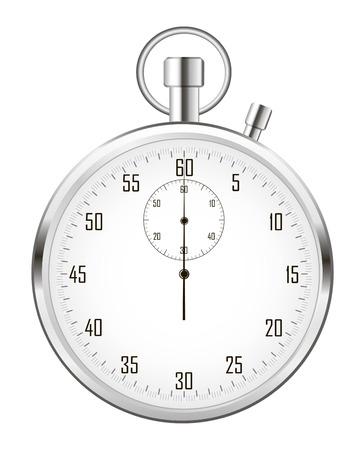 Stoppuhr (oder Chronometer) auf weißem Hintergrund. Vektorgrafik